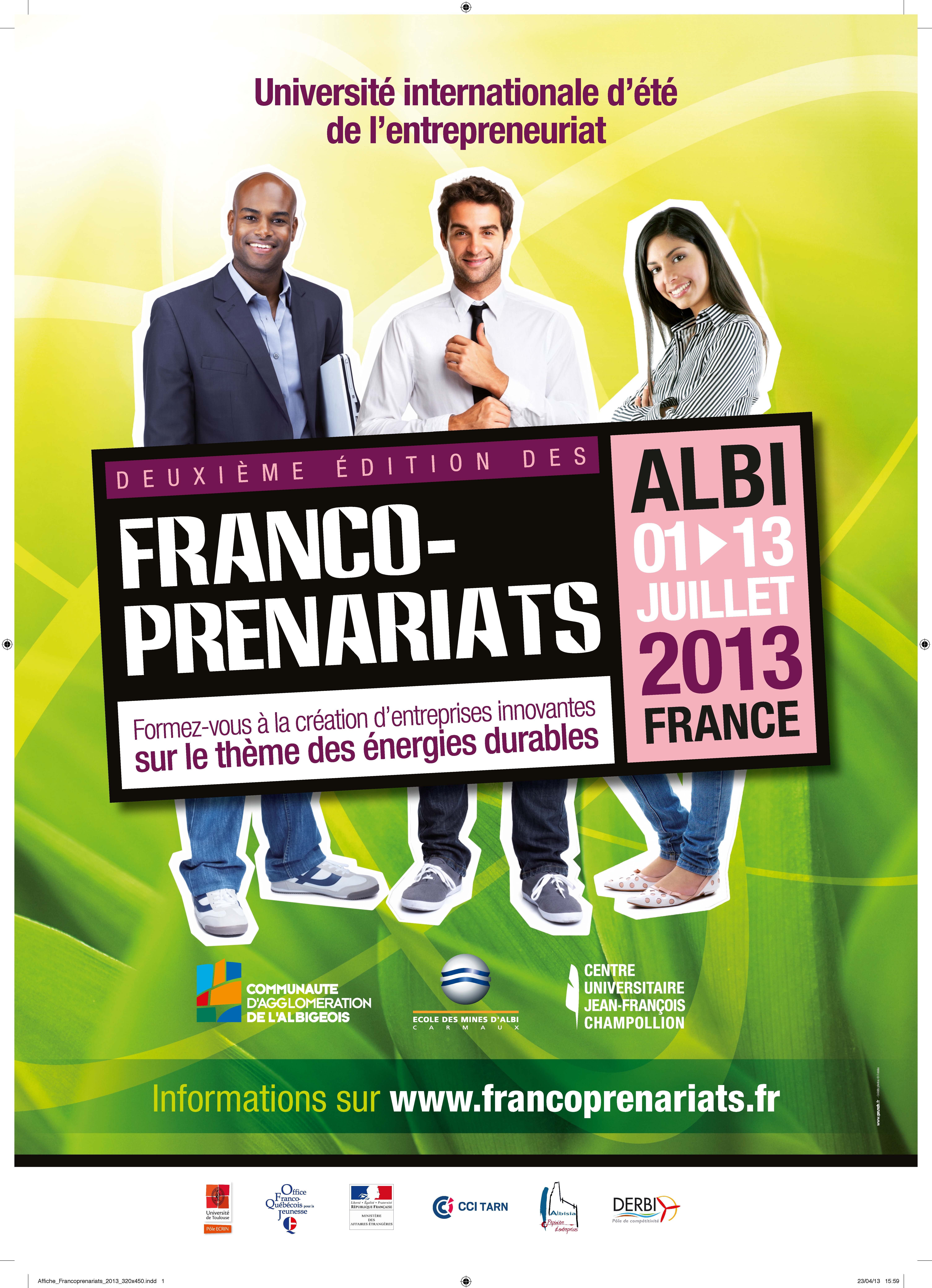 Affiche FrancoPrenariats 2013